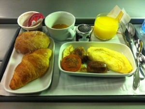 Eurostar business premiere breakfast